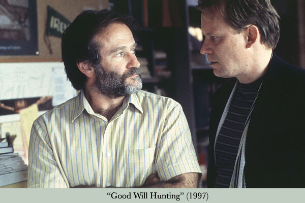 Con Robin Williams en El indomable Will Hunting